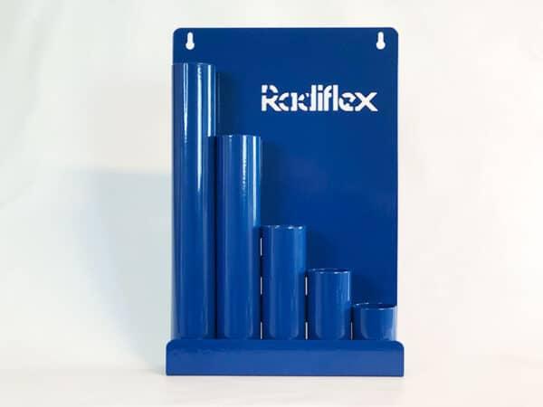 Rack til kabelstrips blå